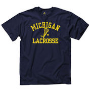 New Agenda Michigan Wolverines Lacrosse Youth Navy Tee