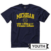 University of Michigan Volleyball Youth Navy Sport Tee