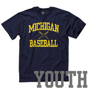 University of Michigan Baseball Youth Navy Sport Tee