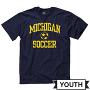 New Agenda University of Michigan Soccer Youth Navy Tee