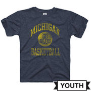 New Agenda University of Michigan Youth Heather Navy Basketball Tee