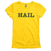 University of Michigan Youth Girls Yellow HAIL Cheer Tee