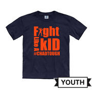 #ChadTough Fight Like A Kid Youth Navy Tee