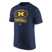 Jordan University of Michigan Football Navy Sport Tee