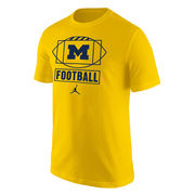 Jordan University of Michigan Football Yellow Sport Tee