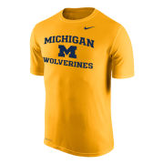 Nike University of Michigan Yellow ''Name Drop'' Dri-FIT Legend Tee