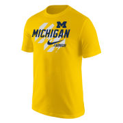 Nike University of Michigan Lacrosse Yellow Short Sleeve Tee