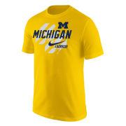 Nike University of Michigan Lacrosse Yellow Short Sleeve Tee