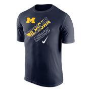 Nike University of Michigan Lacrosse Navy Dri-FIT Legend Tee