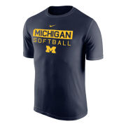 Nike University of Michigan Softball Navy Dri-FIT Legend Tee