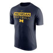 Nike University of Michigan Softball Navy Dri-FIT Legend Tee