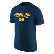 Nike University of Michigan Softball Navy Logo Tee