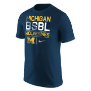 Nike University of Michigan Baseball Navy ''BSBL'' Tee