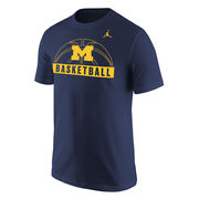 Jordan University of Michigan Basketball Navy Sport Tee