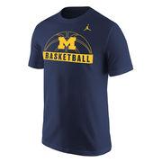Jordan University of Michigan Basketball Navy Sport Tee