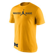 Jordan University of Michigan Basketball Maize Rage Tee