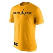 Jordan University of Michigan Basketball Maize Rage Tee