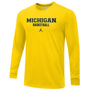 Jordan University of Michigan Basketball Yellow Long Sleeve Tee