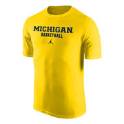 Jordan University of Michigan Basketball Yellow Dri-FIT Legend Tee