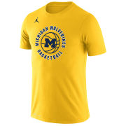 Jordan University of Michigan Basketball Maize Dri-FIT Legend Circle Tee