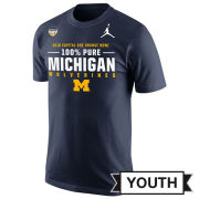 Jordan University of Michigan Football Orange Bowl Youth ''100% Pure'' Navy Tee