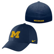Nike University of Michigan Navy Swoosh Flex Dri-FIT Hat