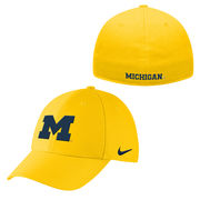 Nike University of Michigan Yellow Swoosh Flex Dri-FIT Hat