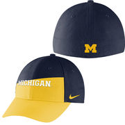 Nike University of Michigan Local Color Block Swoosh Flex Dri-FIT Hat