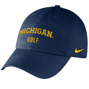 Nike University of Michigan Golf Navy Sport Hat
