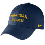 Nike University of Michigan Lacrosse Navy Sport Hat