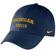 Nike University of Michigan Soccer Navy Sport Hat