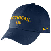 Nike University of Michigan Law School Navy Slouch Hat