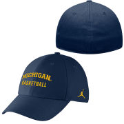 Jordan University of Michigan Basketball Navy Dri-FIT One Size Flex Fit Hat