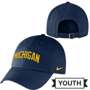 Nike University of Michigan Youth Navy Heritage86 Slouch Hat