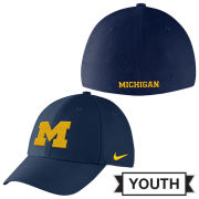 Nike University of Michigan Youth Navy Classic99 SwooshFlex Hat