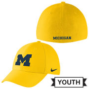 Nike University of Michigan Youth Yellow Classic99 SwooshFlex Hat