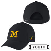 Jordan University of Michigan Football Youth Navy Head Coaches Dri-FIT Hat