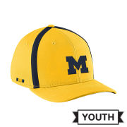 Jordan University of Michigan Football Youth Yellow Aerobill Sideline Coaches Dri-FIT Hat