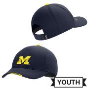 Jordan University of Michigan Football Youth Navy Aerobill Coaches Sideline Hat