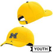 Jordan University of Michigan Football Youth Maize Aerobill Coaches Sideline Hat