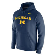 Nike University of Michigan Navy Stadium Club Hooded Sweatshirt