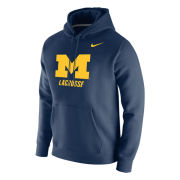 Nike University of Michigan Lacrosse Navy Stadium Club Hooded Sweatshirt