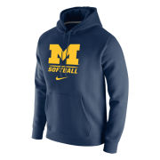 Nike University of Michigan Softball Navy Stadium Club Hooded Sweatshirt