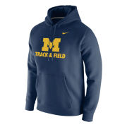 Nike University of Michigan Track & Field Navy Stadium Club Hooded Sweatshirt