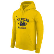 Jordan University of Michigan Football Maize Therma-FIT Hooded Sweatshirt