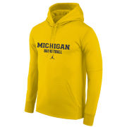 Jordan University of Michigan Basketball Maize Therma-FIT Hooded Sweatshirt