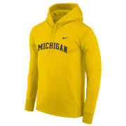 Nike University of Michigan Maize Basic Therma-FIT Hooded Sweatshirt