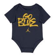 Jordan University of Michigan Infant Navy ''Go Blue'' Onesie