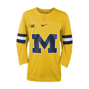 Nike University of Michigan Hockey Yellow Replica Jersey