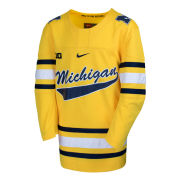 Nike University of Michigan Hockey Maize Replica Script ''Michigan'' Jersey